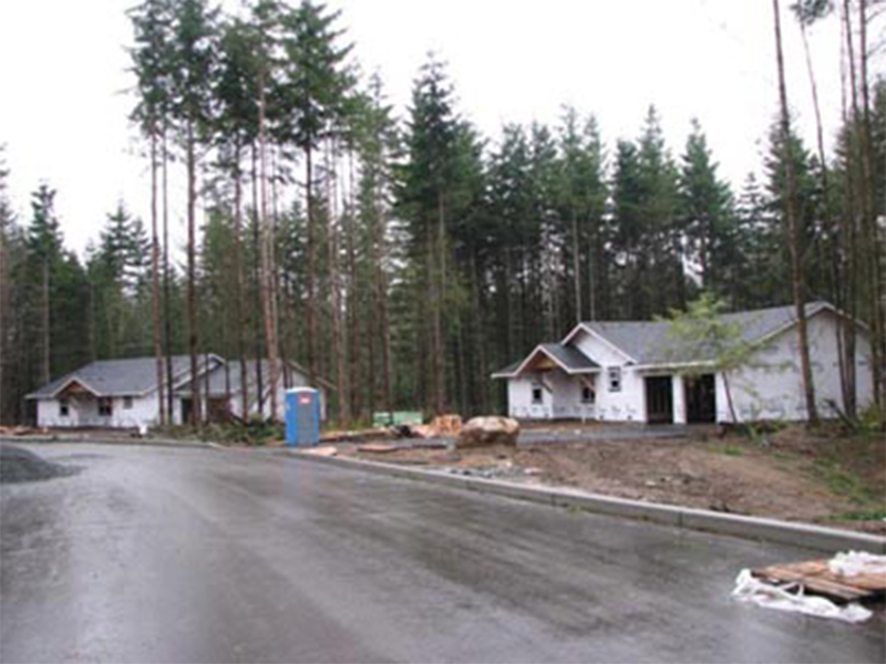 Tulalip Housing and Construction Mission Highlands, progressing along with finish work.