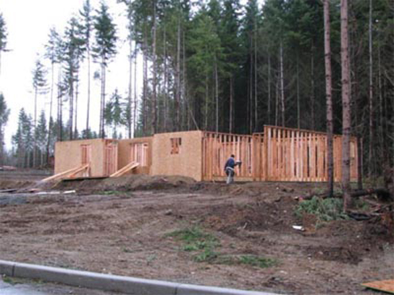Tulalip Housing and Construction Mission Highlands walls going up on home
