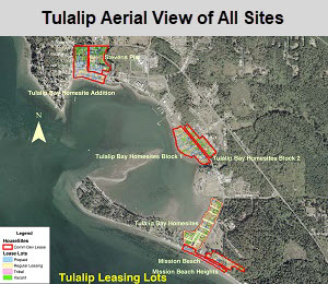 Tulalip Housing Department leasing map lots aerial view of all lots