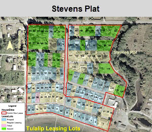 Tulalip Housing Department leasing map lots for Stevens Plat