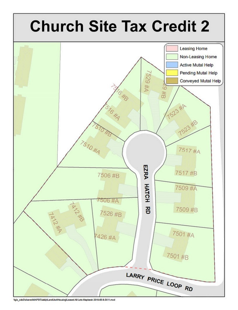 Tulalip Housing Tenant Services map of Church Site Tax Credit 2