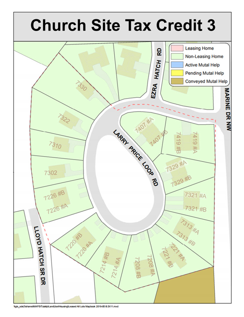 Tulalip Housing Tenant Services map of Church Site Tax Credit 3