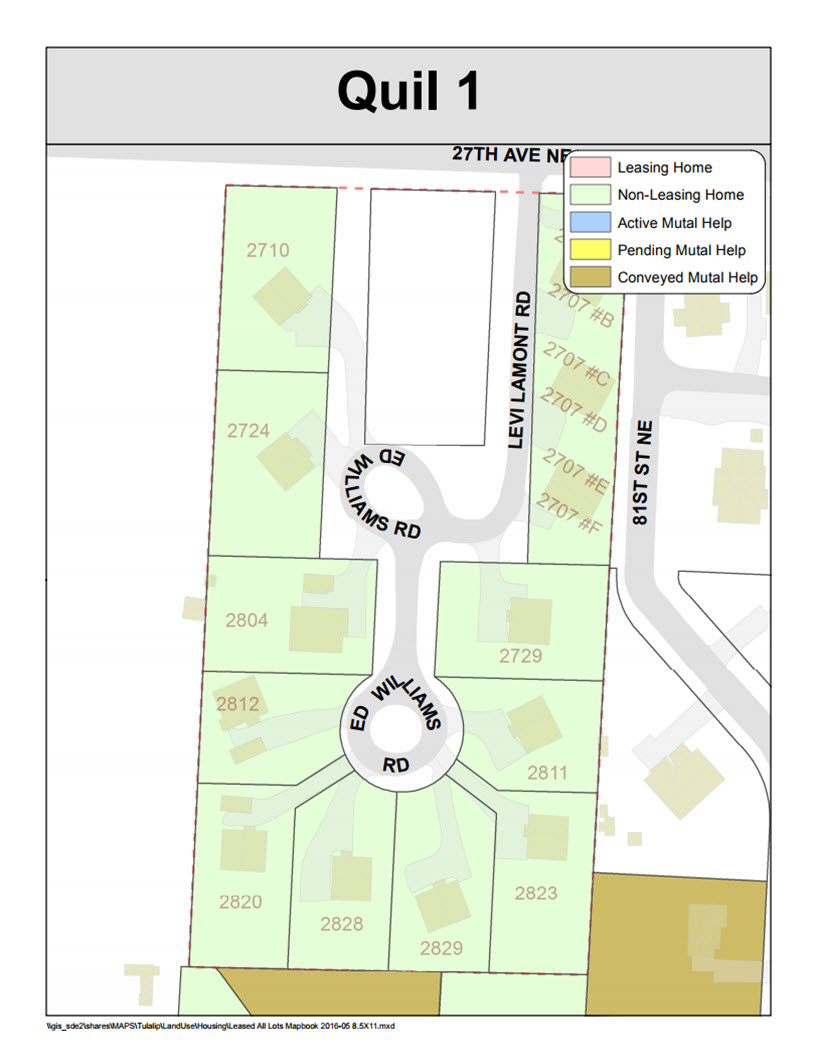 Tulalip Housing Tenant Servies map of Quil 1