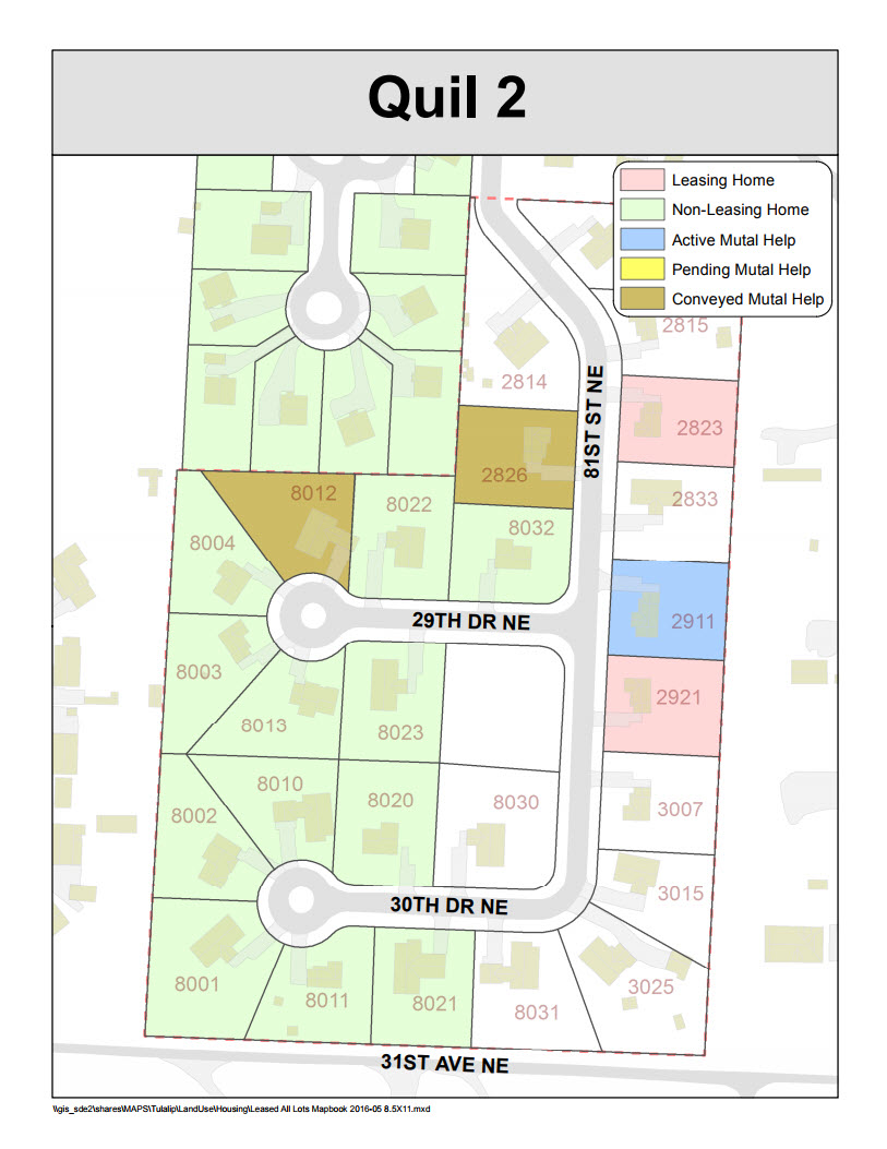 Tulalip Housing Tenant Services map of Quil 2